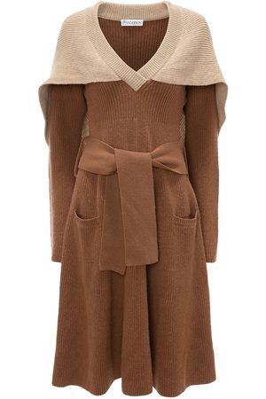 J.W.Anderson Cape detail knitted dress