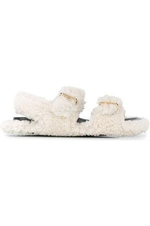 Marni Shearling buckled sandals