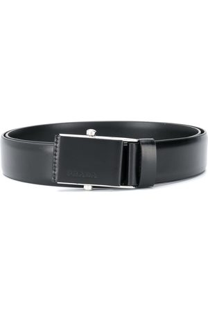 Prada Logo plaque buckle belt