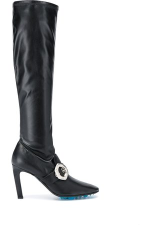 OFF-WHITE Buckle-detail over-the-knee boots