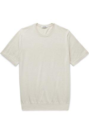Saman Amel Homem T-shirts & Manga Curta - Mélange Cotton T-Shirt