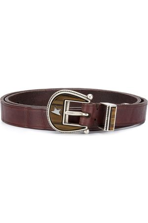 Golden Goose Buckle-fastening leather belt