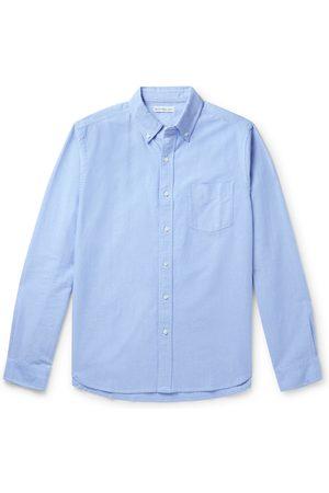 ALEX MILL Homem Casual - Button-Down Collar Overdyed Cotton Oxford Shirt