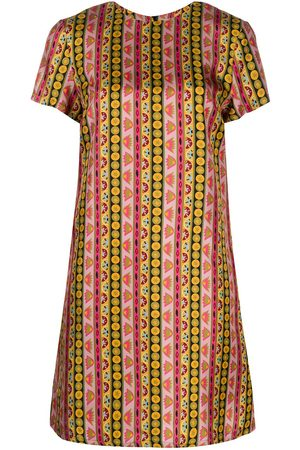 La DoubleJ Printed silk shift dress