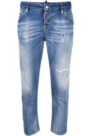 Dsquared2 Senhora Boyfriend - Cropped boyfriend jeans