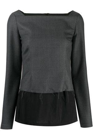 Maison Margiela Senhora Blusas - Layered check blouse