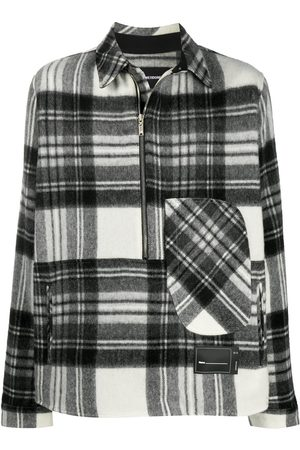 We11 Done Long-sleeved plaid check jacket