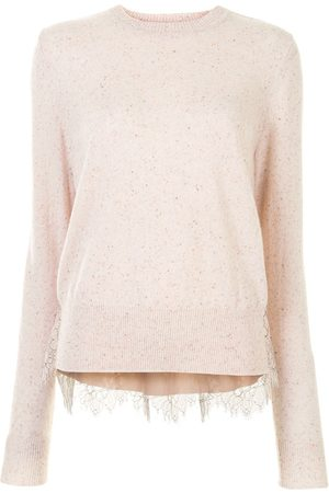 Onefifteen Lace panel knitted top