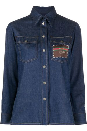 Gucci Logo-patch denim shirt