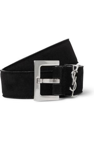 Saint Laurent Homem Cintos - 3cm Suede Belt