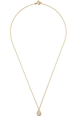 AS29 18kt yellow Mye pear beading pave diamond necklace