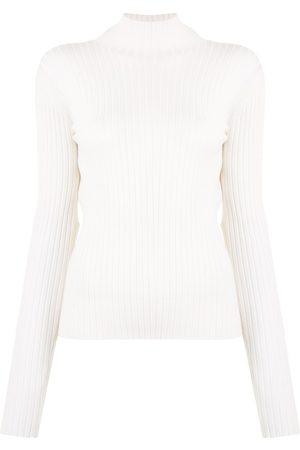 DION LEE Backless ribbed-knit jumper