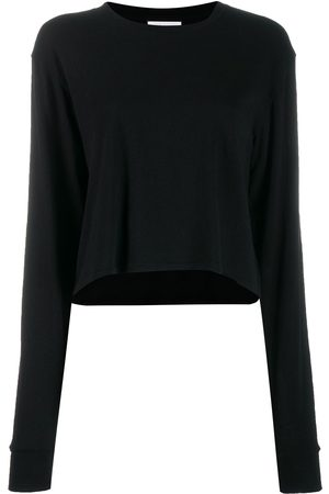 JOHN ELLIOTT Jersey long-sleeved cropped T-shirt