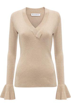 J.W.Anderson Senhora Camisolas - Flared-cuff wool jumper