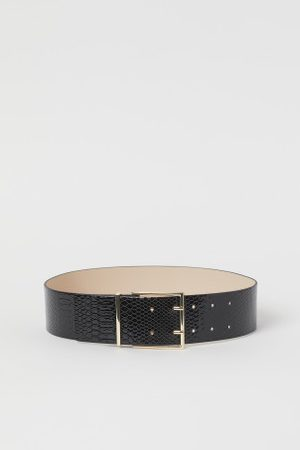H&M Cinto com padrão pele de cobra