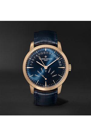 Vacheron Constantin Homem Relógios - Patrimony Retrograde Day-Date Automatic 42.5mm 18-Karat Pink Gold and Alligator Watch, Ref. No. 4000U/000R-B516