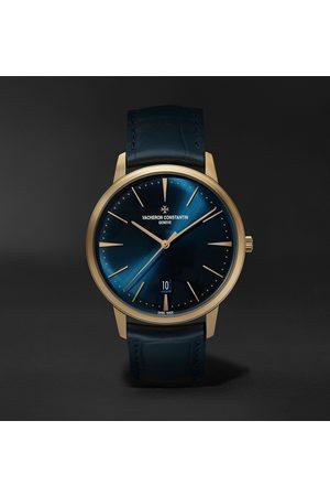 Vacheron Constantin Homem Relógios - Patrimony Automatic 40mm 18-Karat Pink Gold and Alligator Watch, Ref. No. 85180/000R-B515
