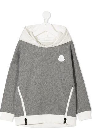 Moncler Zipped logo patch hoodie