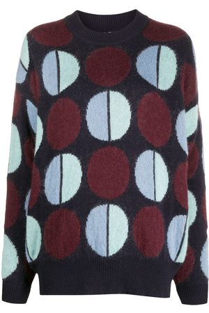 La DoubleJ Engadina geometric knit jumper