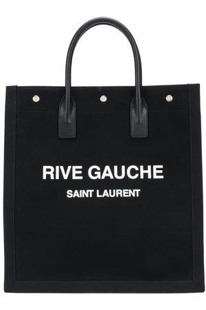 Saint Laurent Rive Gauche canvas tote bag