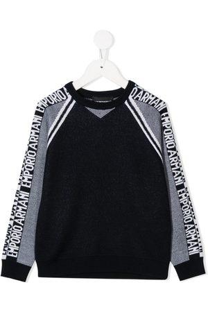 Emporio Armani Menino Camisolas - Long-sleeved logo jumper