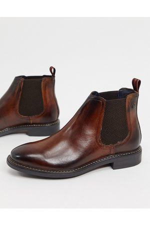 Base London Seymour chelsea boots in brown leather