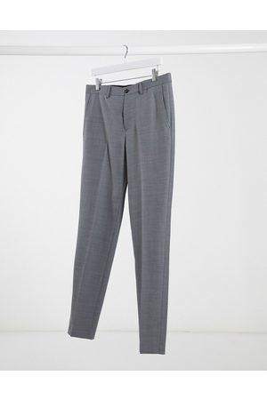 Jack & Jones Premium slim fit suit trousers in light grey