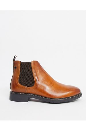 Base London Seymour chelsea boots in tan leather