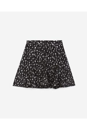The Kooples Mulher Mini-saias - Short black skirt with silver polka dots