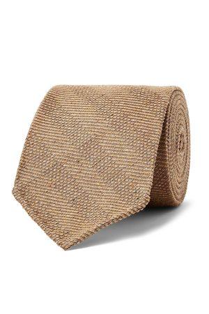KINGSMAN Drake's 8cm Striped Mélange Textured-Silk Tie