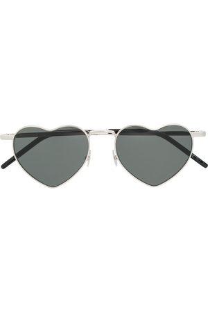 Saint Laurent Eyewear Óculos de Sol - Heart shaped sunglasses