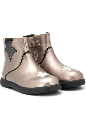 Camper Kido star-patch ankle boots