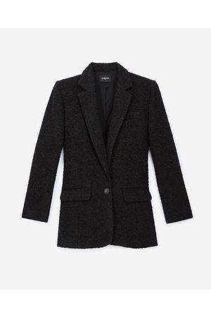 The Kooples Senhora Blazers - Buttoned black tweed blazer