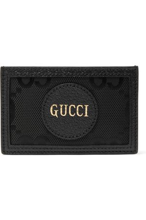 Gucci Homem Bolsas & Carteiras - GG Off The Grid Monogrammed Leather-Trimmed ECONYL Cardholder