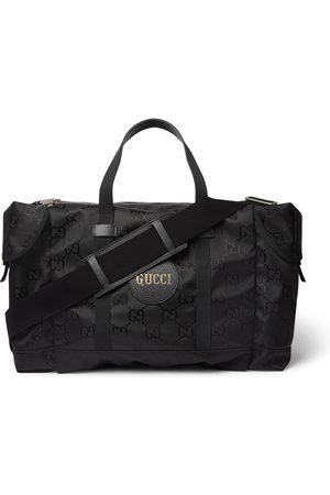 Gucci Homem Sacos Viagem & Fim-de-semana - Off the Grid Leather-Trimmed Monogrammed ECONYL Canvas Duffle Bag