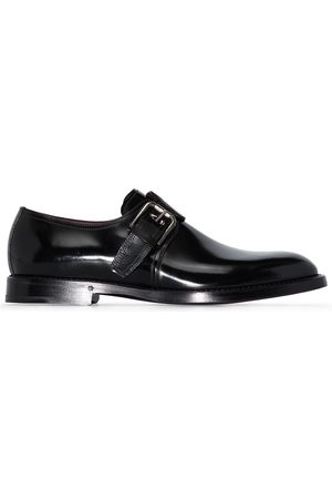 Dolce & Gabbana Buckle leather Monk shoes