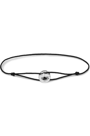Le Gramme Homem Pulseiras - Sterling Silver and Cord Bracelet