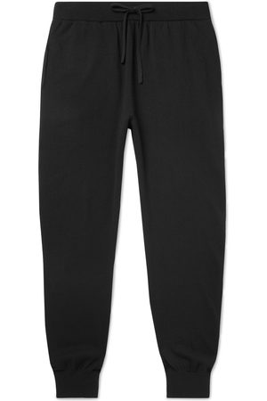 Mr P. Homem Calças Justas - Slim-Fit Wool and Cashmere-Blend Sweatpants