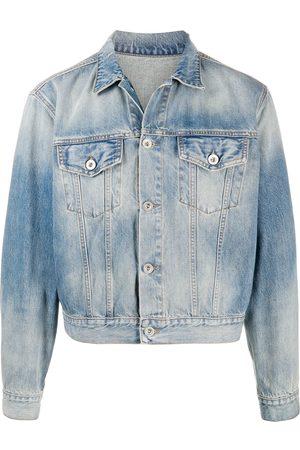 Unravel Project Homem Casacos - Cropped denim jacket