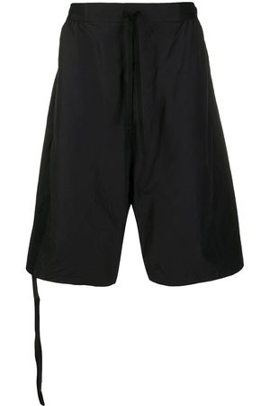 Unravel Project Logo-patch drop-crotch shorts