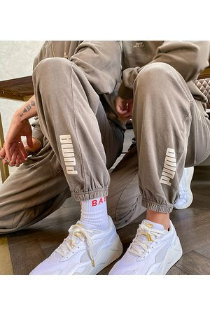 PUMA Oversized joggers in washed brown - exclusive to ASOS