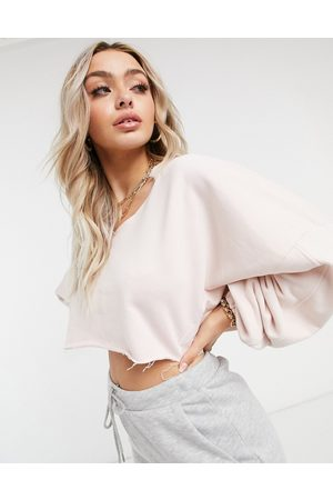 The Couture Club Senhora Camisolas com capuz - Cropped sweatshirt in pink