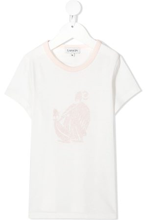 Lanvin Embroidered short-sleeve T-shirt