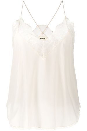 Zadig & Voltaire Christy lace-trimmed silk top