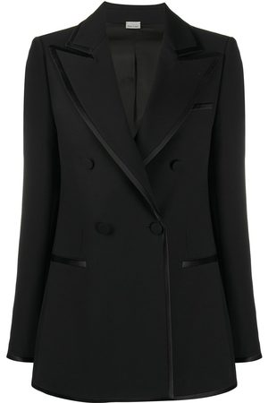 Gucci Double-breasted contrast-trim blazer