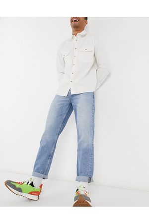 ASOS Homem Retos - Straight crop jeans in vintage light wash blue
