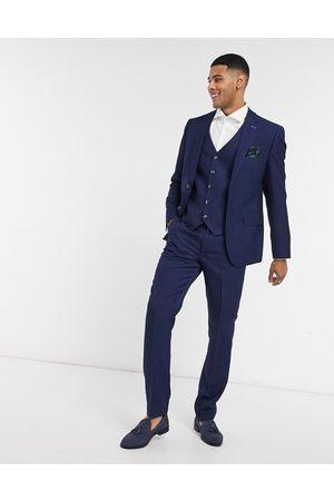 Harry Brown Slim fit suit trouser-Navy