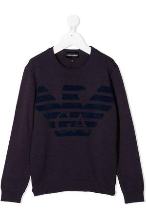 Emporio Armani Logo print jumper
