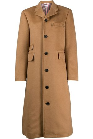 Thom Browne Senhora Casacos - Long single-breasted coat
