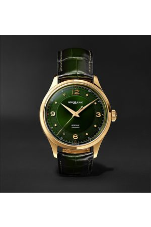 Mont Blanc Heritage Automatic 40mm 18-Karat Gold and Alligator Watch, Ref. No. 126464